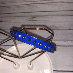 Blue Studded Enamel Bracelet